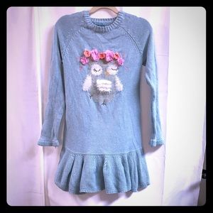 Girls Dress 7 Blue Longsleeve Winter